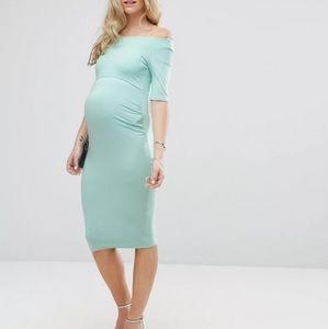 ASOS Maternity Bardot Dress half sleeve US 08